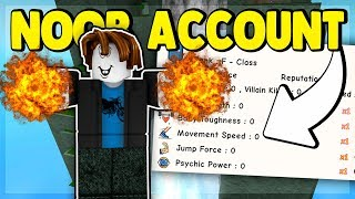 ROBUX MADE MY NOOB ACCOUNT DESTROY EVERYONE! (ROBLOX SUPER POWER TRAINING SIMULATOR)