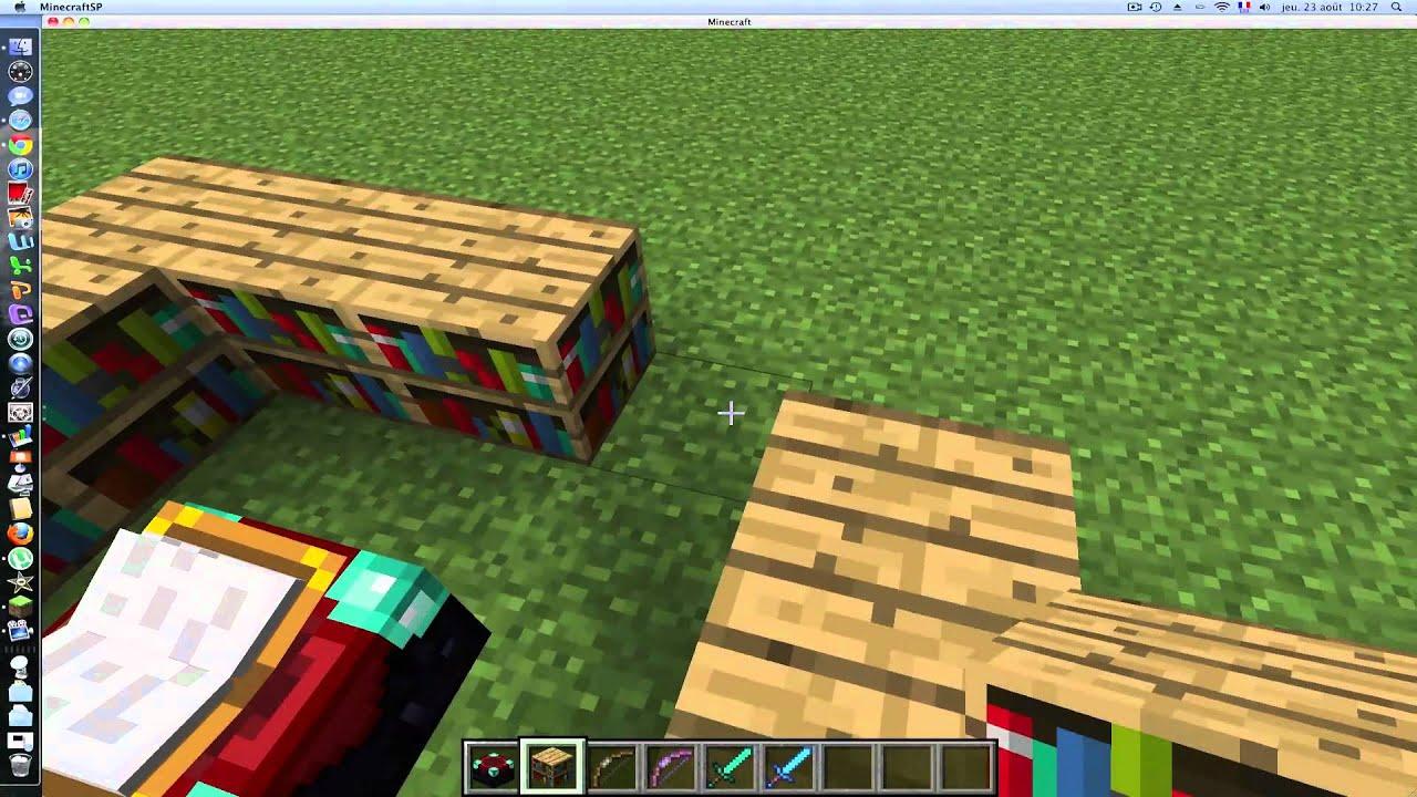 Minecraft tuto 1 augmenter la table d 39 enchantement youtube - Table d enchantement minecraft ...