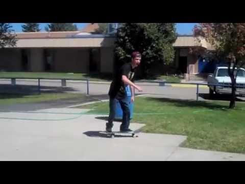 Brett Samora skateboarding at Mancos High School