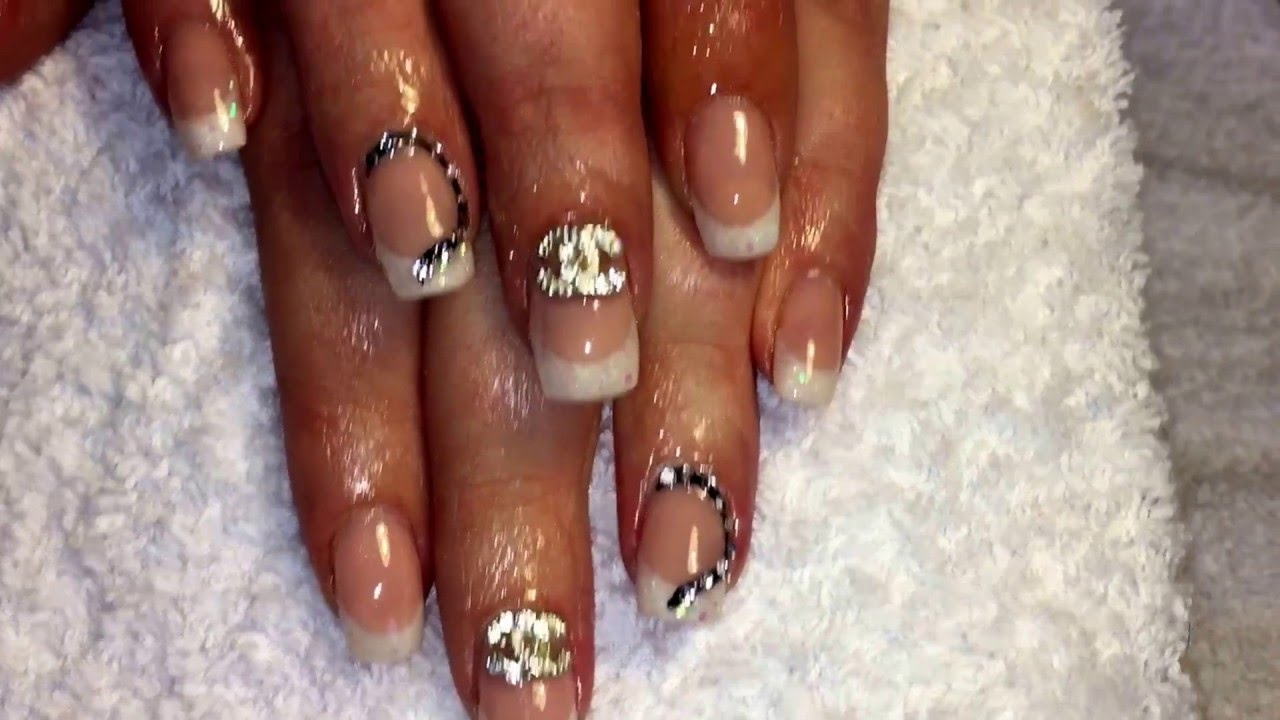 Acrylic Nails Using Youngnails Products Infill And New Design