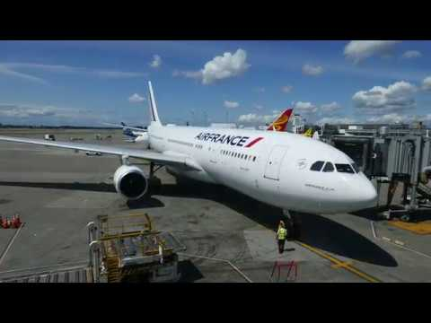 4K Airbus A330-200 Air France Seattle - Paris-CDG (Full Flight)