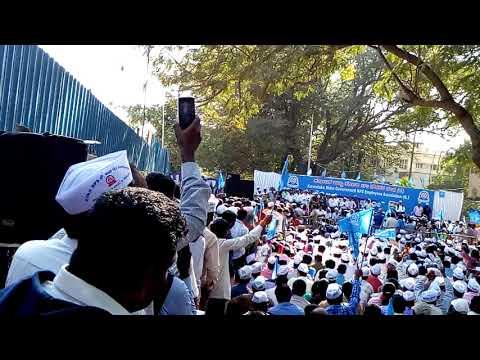 Chakravarti Sulibele speech in Anti NPS protest, Freedom Park  Bangalore.