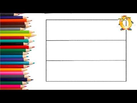 Раскраска для детей. Учим цвета, флаги, столицы, страны. Эстония.
