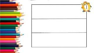 Раскраска для детей Учим цвета флаги столицы страны Эстония