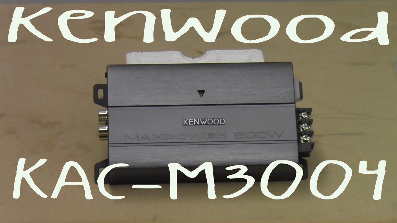 maxresdefault kenwood kac m3004 out of the box youtube kenwood kac m3004 wiring diagram at reclaimingppi.co