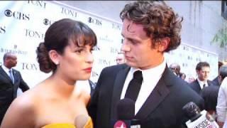 Tonys 2010 Red Carpet: Lea Michele & Jonathan Groff