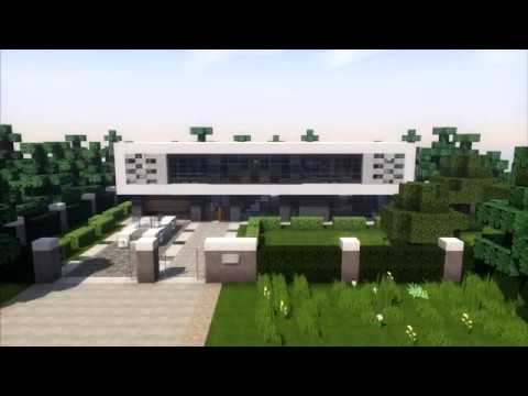 How to Build a Modern House in Minecraft House Tutorial
