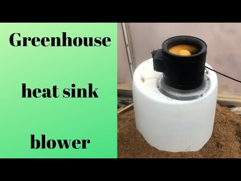 Blower operating on geothermal heat sink greenhouse (2019)