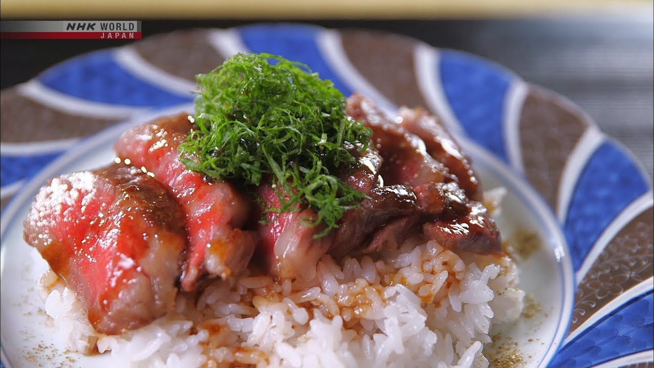 Photo of Chef Rika's Two-minute Steak with Wasabi Sauce and Rice [Japanese Cooking] – Dining with the Chef – video
