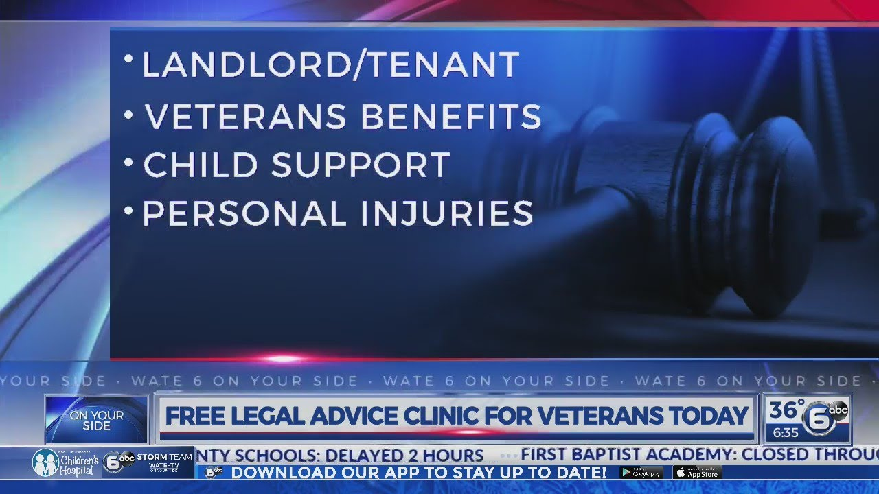 Free legal advice clinic for veterans today