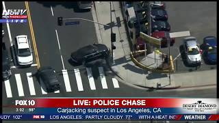 CRASHING END: Police Chase Ends After Suspect Crashes Car And Tries To Run From LAPD (FNN)