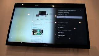 Hands-on With Sony BRAVIA Internet Browser