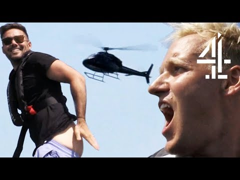 Jamie Laing & Spencer Matthews Are Literally In A Helicopter/Speedboat Chase | Celebrity Hunted