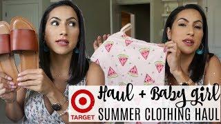TARGET HAUL + BABYGIRL SUMMER CLOTHING HAUL 2018 // XOJULIANA