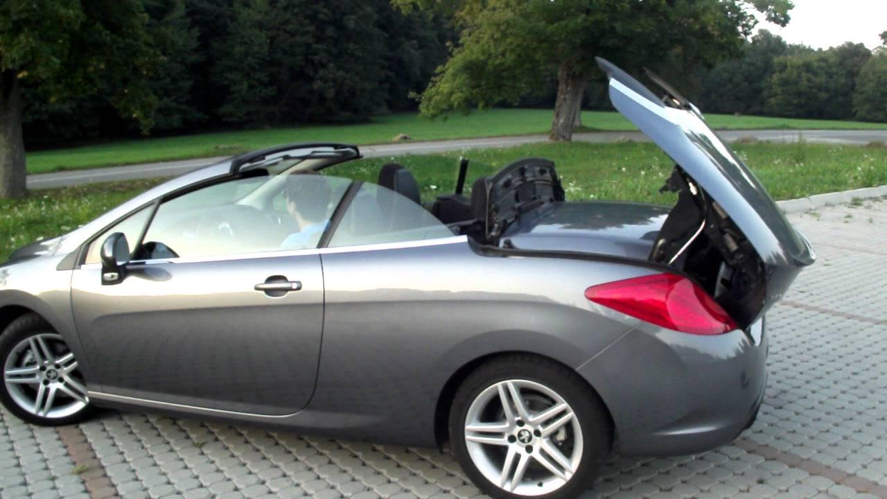 peugeot 308 cc: kabriolet skladanie strechy - 308 cc: cabrio folding