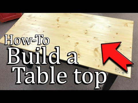 How to Build a Wood Tabletop using pocket holes