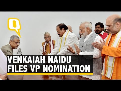 I Don't Belong to Any Party Now: Naidu After Filing VP Nomination - The Quint