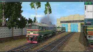 Лихачёво-Мосты на М62-1733. Trainz 2012 мультиплеер