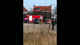 Brand vuilnisauto Waalwijk