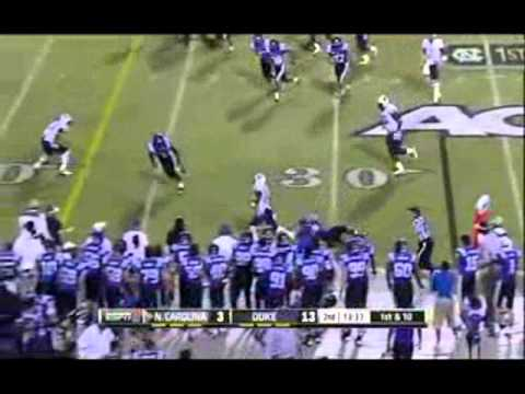Duke vs North Carolina 2012 Football Highlights
