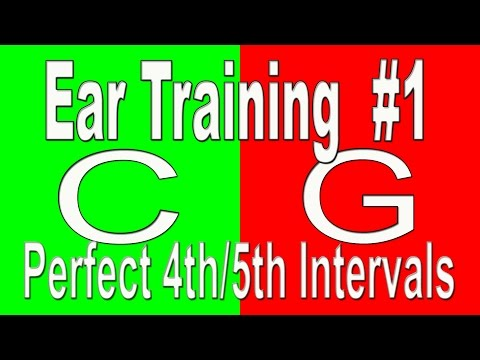 Overcome Tone Deafness Ear Training Exercise 1 Perfect 4th5th Beginning Ear Training : Intervals