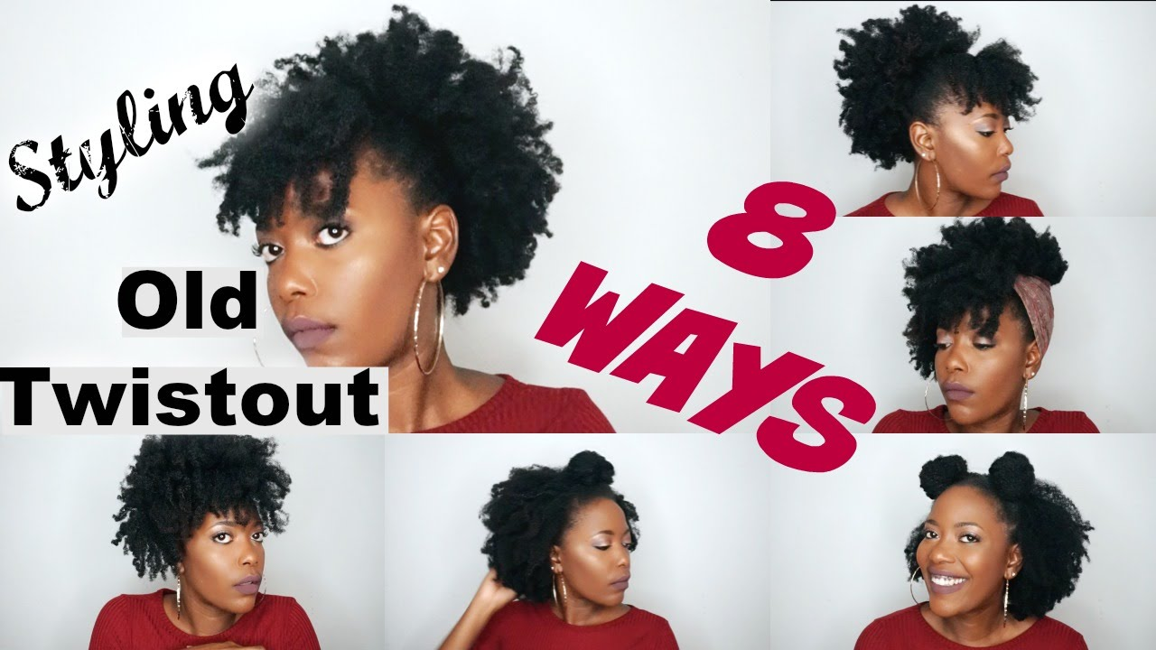 styling an old twistout 8 ways | natural hair style!