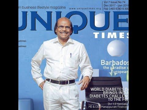 Interview with M. P. Ramachandran, CMD, Jyothy Laboratories  for Unique Times Magazine
