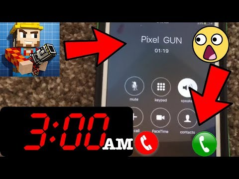 DO NOT CALL PIXEL GUN 3D AT 2:00 AM (SCARY) *THEY ANSWERED*