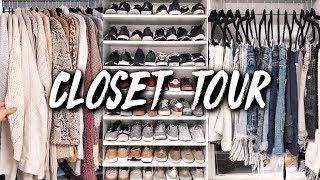 MY CLOSET TOUR + HACKS FOR ORGANIZING SMALL CLOSETS