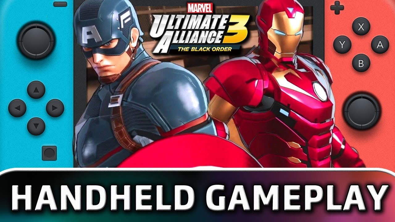 Marvel Ultimate Alliance 3: The Black Order | 15 Minutes in Handheld MODE on Switch