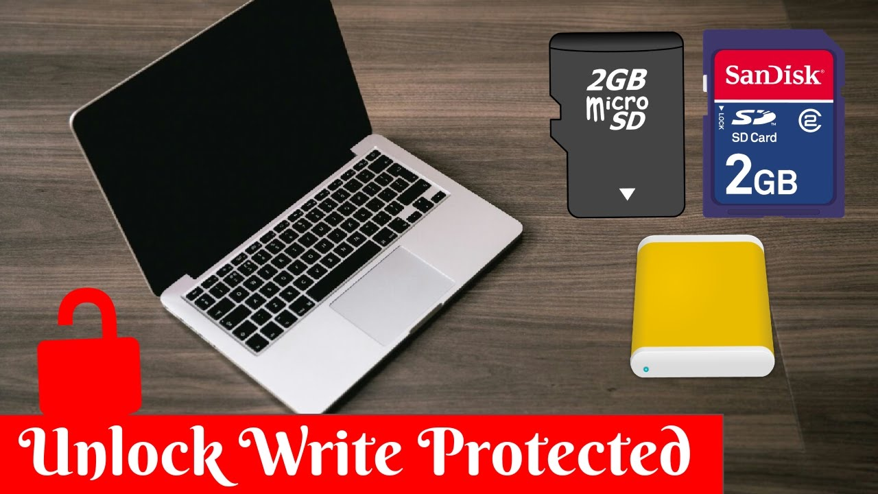 How to Unlock a Write Protected USB Drive, a SD or Micro SD Memory Card or a Hard Drive