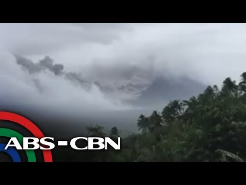 WATCH: Mayon volcano spews ash