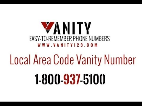 1 800 Numbers Search. Local Vanity Number