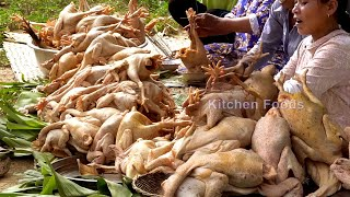 Cooking 100 Chickens to Make Donation with 79 Families in Village - Deep Fried 200KG Chicken Recipe