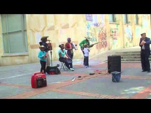 Vincent's Travel Log - Bogota, Colombia (funny dancing near Bolivar Square)