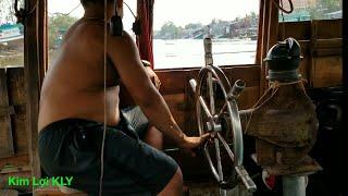 Chạy thử tàu cào xò mới gắn chân vịt/Testing fishing vessels.