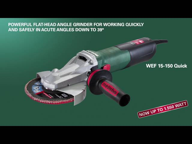 New Flat-head Angle Grinders from Metabo (US-Version)