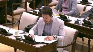Segundo González en la Comisión para las Relaciones con el Tribunal de Cuentas el 27 de Febrero