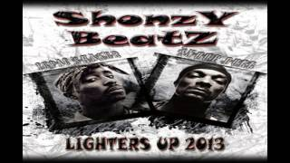 2PAC FT. SNOOP DOGG - LIGHTERS UP 2013 (Prod. by Shonzy Beatz)