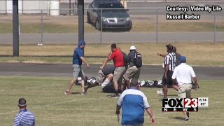Fight breaks out between third grade football coaches during game in Bixby