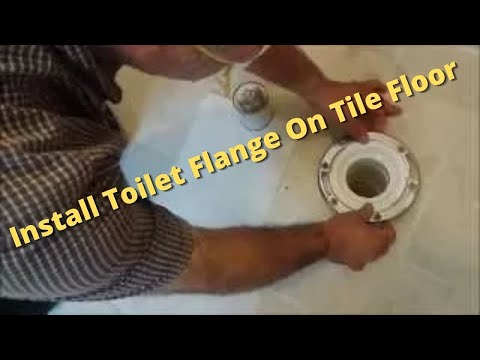 how to fix a broken pvc toilet flange in concrete