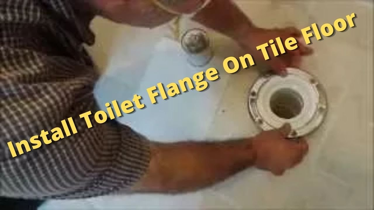 How To Install Toilet Flange On Tile Floor After Tiling Step By Step    YouTube Part 49