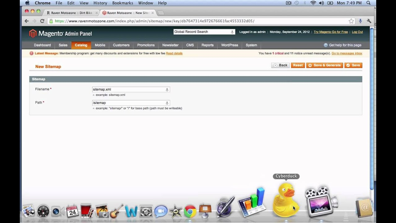 add a google sitemap in magetno youtube