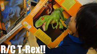 Dinosaur Toys: R/C T-Rex VS Triceratops Dinosaurs Unboxing & Playtime 1 of 2 thumbnail