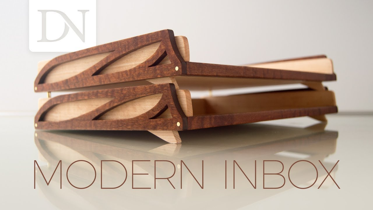 Modern Inbox // DIY Stackable Desk Trays