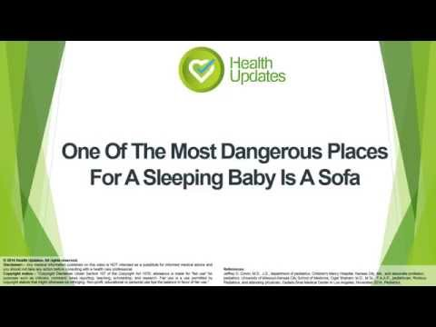 One Of The Most Dangerous Places For A Sleeping Baby Is A Sofa