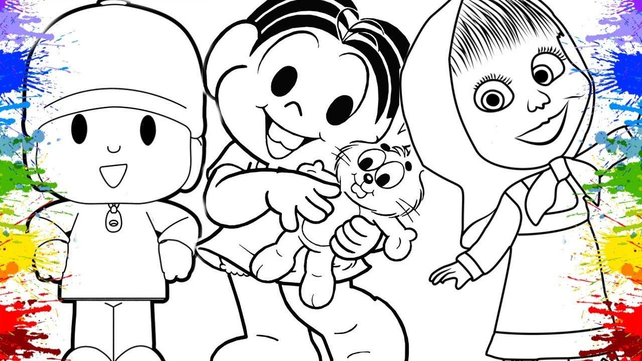 Desenho Da Turma Da Monica E Magali Pocoyo Galinha