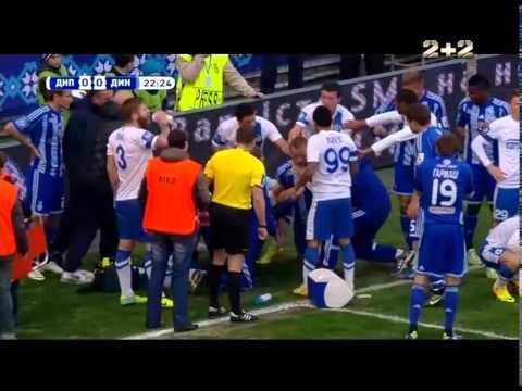 Днепр - Динамо - 0:0. Ужасное столкновение Бойко с Гусевым (22')