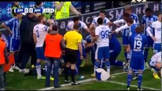 Днепр - Динамо - 0:0. Ужасное столкновение Бойко с Гусевым (22