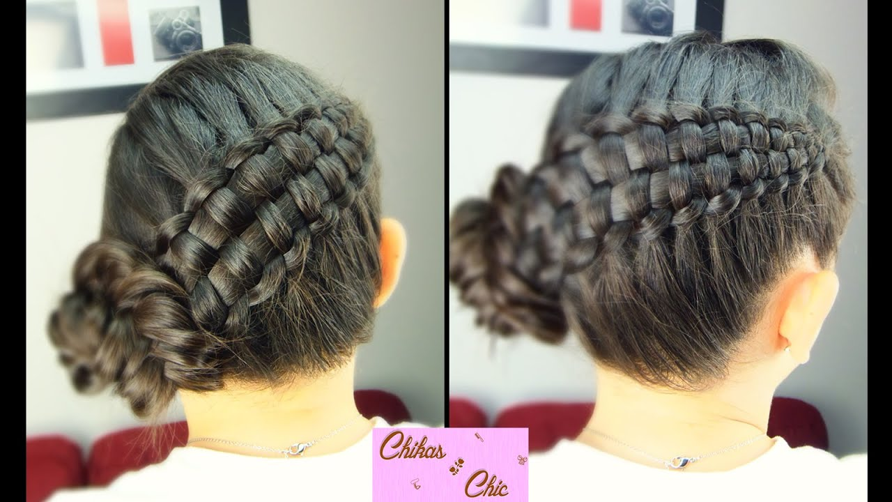 Double Braid Updo Zipper Braid Updo Braided Hairstyles